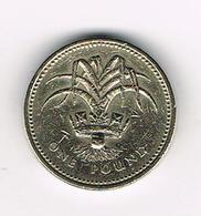 /  GREAT BRITAIN  1 POUND   1990  WELSH  LEEK - 1 Pound