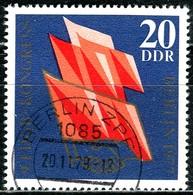 DDR - Mi 2219 - OO Gestempelt (B) - 20Pf     FDGB Kongreß 77 - DDR