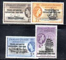 CI1104 - FALKLAND DEPENDENCIES SHETLANDS 1956, Serie 66/69  ***  MNH (2380A) . - Falkland