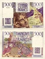 500 Francs Chateaubriand 1945 TTB - 1871-1952 Anciens Francs Circulés Au XXème