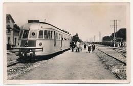 CPSM - TUNISIE - TINDJA - La Gare (Autorail En Gros Plan) - Tunisie