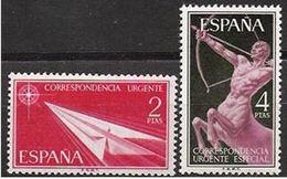 ESPAGNE SPANIEN SPAIN ESPAGNE SPAIN SPANIEN ESPAÑA 1956 URGENT MAIL URGENTE SET 2V ED 1185-86 YV SERVICE 2-3 MI 1071-72 - 1931-Aujourd'hui: II. République - ....Juan Carlos I
