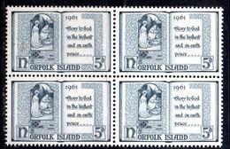 QUS - NORFOLK 1961, La Serie Natale N. 50  In Fresca Quartina *** (2380A) - Isola Norfolk