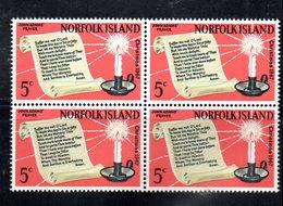 QUS - NORFOLK 1967, La Serie Natale N. 93  In Fresca Quartina *** (2380A) - Isola Norfolk