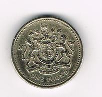 /  GREAT BRITAIN  1 POUND   1993 ROYAL COAT OF ARMS - 1971-… : Monnaies Décimales