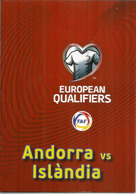 UEFA EUROPEAN QUALIFIERS.2020. ANDORRA-ICELAND, BOOKLET 16 PAGES LUXE, Disponible Seuls Aux Tickets VIP - Championnat D'Europe (UEFA)