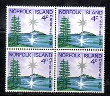QUS - NORFOLK 1966, La Serie Natale N. 78  In Fresca Quartina *** (2380A) - Isola Norfolk