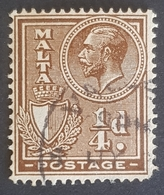 1926-1927, King George V And Coat Of Arms, Malta - Malte