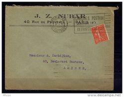 Am5610 OMEC FLIER B022208 Paris 22 R. Taitbout  Chèques Postaux Demandez ..../L 07/11/30 - Marcophilie (Lettres)