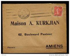 Am5628 OMEC KRAG B124101 Paris-124 Rue D'Enghien 4 LD Inégales /L 11/10/27 - Marcophilie (Lettres)
