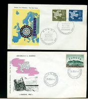 EUROPA CEPT 1961 - FDC - GERMANIA - SAN MARINO - Instituciones Europeas