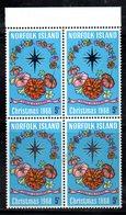 QUS - NORFOLK 1968, La Serie Natale N. 100  In Fresca Quartina *** (2380A) - Isola Norfolk