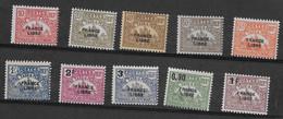 Madagascar N° 20 à  29**Taxe - Madagascar (1889-1960)