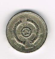/  GREAT BRITAIN  1 POUND   1996   CELTIC  COLLAR ON CROSS - 1971-… : Monnaies Décimales