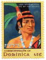 DOMINICA 1v MNH** 1352 Acamapitzin 1st King Of Aztecs In Ancient Mexico 1er Rey De Los Aztecas Azteken Aztechi - Autres