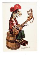Cpm Illustration Humour VUILLEMIN Publicité Bulles Et Notes ANGOULÊME Corsaire Pirate Crochet Tonneau Guitare Rat Souris - Humour