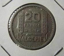 Algeria 20 Francs 1949 Varnished - Algerien