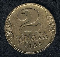 Jugoslawien, 2 Dinara 1938, UNC - Yugoslavia