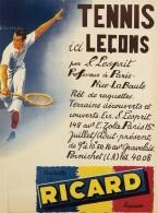 @@@ MAGNET - TENNIS ICI LEÇONS  RICARD - Publicitaires