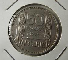 Algeria 50 Francs 1949 Varnished - Algerien