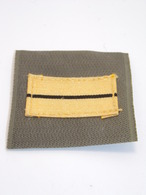 Insigne Militaire Tissu - Galon De Poitrine (Lieutenant) - Military Badges P.V. - Ecussons Tissu