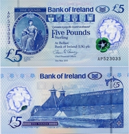 NORTHERN IRELAND - BI       5 Pounds       P-New       31.5.2017 (2019)       UNC - [ 2] Irlanda Del Norte