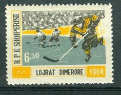 BM Albanien 1963   MiNr 795   MNH   Olympische Winterspiele, Innsbruck, Eishockey - Albania