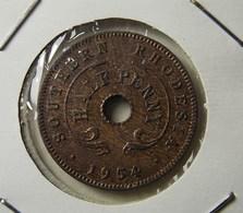 Southern Rhodesia 1/2 Penny 1954 Varnished - Rhodésie