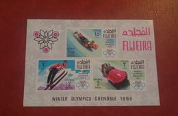 Fujeira 1968 - Winter Olympic Games Grenoble - Sheet Mi 9 MNH - Sports France Ski Snow Imperf - Fujeira
