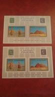 Fujeira 1966 - 100 Annyversary Egyptian Stamps - Perf And Imperf Sheets Mi 2 A/B MNH - Piramid Sfinx Archeology Egypt - Fujeira
