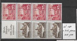 1939 MNH Germany Bauwerke  Postfris**, W140 Or S257 + Extra - Se-Tenant