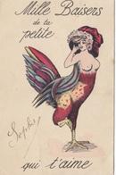 2 Scans Rare Illustrateur Sager Mille Baisers De Ta Petite (seins Nus Mi Femme Mi Poule) Sophie Qui T'aime Chantecler - Sager, Xavier