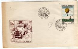CZECHOSLOVAKIA CESKOSLOVENSKO CECOSLOVACCHIA 25 1 1974 VINTAGE CAR PRAHA AUTO D'EPOCA PRAGA FDC COVER - FDC