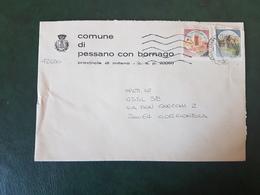 (27691) STORIA POSTALE ITALIA 1990 - 1981-90: Storia Postale