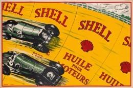 @@@ MAGNET - SHELL  HUILE POUR MOTEURS. 1925 - Publicitaires