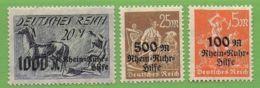 MiNr. 258-260  X Deutsches Reich - Deutschland