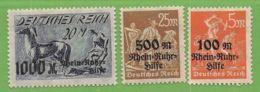 MiNr. 258-260  Xx Deutsches Reich - Deutschland