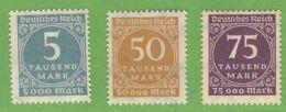 MiNr. 274-276  Xx Deutsches Reich - Deutschland