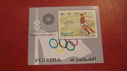 Fujeira 1971 - Summer Olympic Games Munich - Perf Sheet Mi 71A MNH - Sports Medals Winners Athletics Football - Fujeira