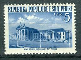 BM Albanien 1953 | MiNr 529 | MNH | Wiederaufbau, Filmstudio Tirana - Albanie
