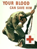 @@@ MAGNET - Your Blood Can Save Him, Red Cross - Publicitaires