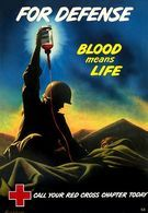 @@@ MAGNET - Red Cross Blood Means Life - Publicitaires