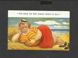 Vintage Bamforth Postcard Seaside Comic Series No 2018 Unposted - Humour