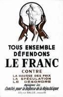 @@@ MAGNET - Tous Ensemble Défendons Le Franc - Publicitaires