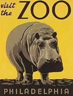 @@@ MAGNET - Visit The Zoo Philadelphia Hippo - Publicitaires