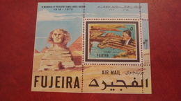 Fujeira 1970 - Nasser - Perf Sheet Mi A27A MNH - President Egypt Piramid - Fujeira