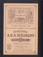 Dt. Reich PK Bergmann Fabrik Feiner Seifen Waldheim 1885 - Waldheim