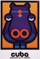 @@@ MAGNET - Cuba Zoologico De La Habana (hippo) - Publicitaires