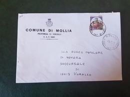 (27724) STORIA POSTALE ITALIA 1990 - 1981-90: Storia Postale