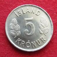 Iceland 5 Kronur 1974 KM# 18  Islande Islanda Islandia - Islande